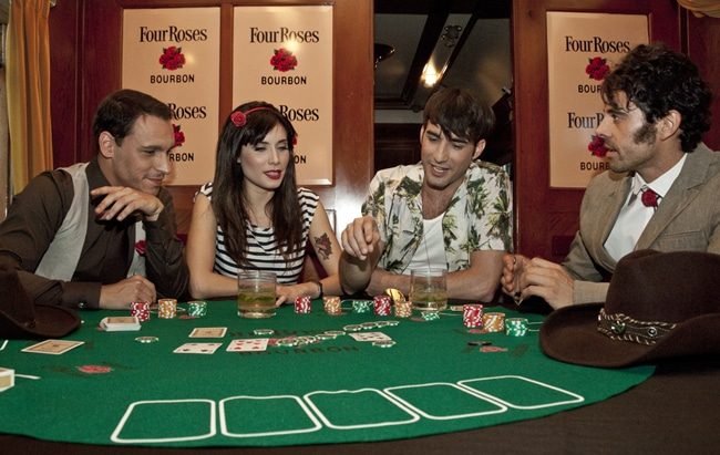 The Four Roses Poker Train