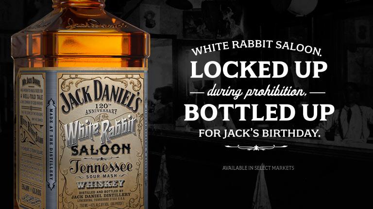 El conejo blanco de Jack Daniel