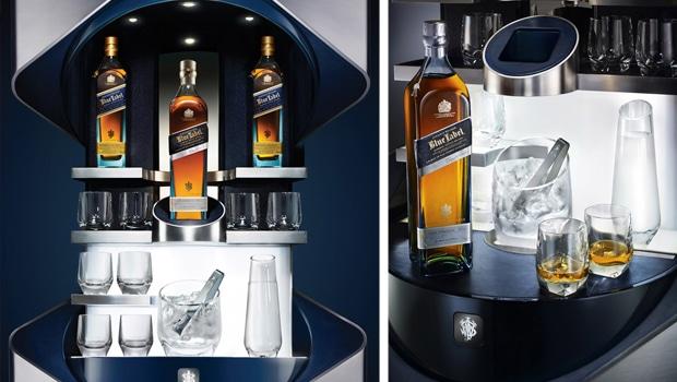 La etiqueta azul de lujo de johnnie walker todo whisky for Copas para whisky