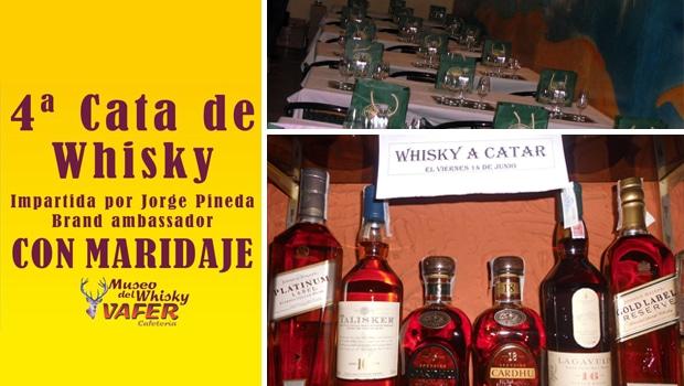 La Cafetería-Museo del Whisky Vafer y su próxima cata
