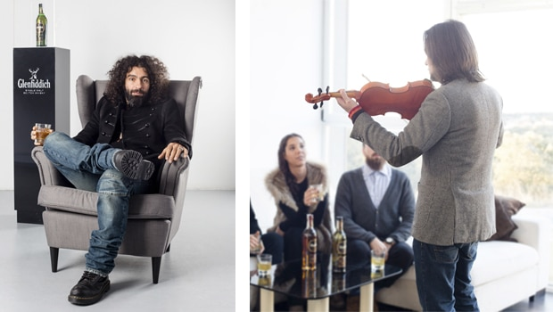Glenfiddich maridado con violines