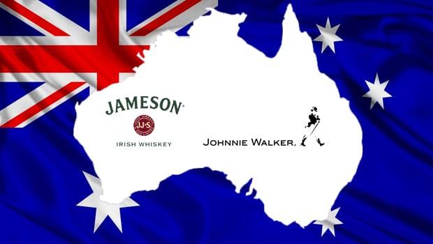 Los australianos se pasan de Johnnie Walker a Jameson