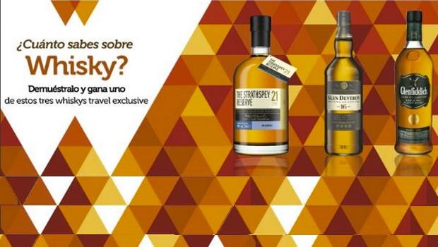 ¿Cuánto sabes sobre whisky? El concurso de World Duty Free Group