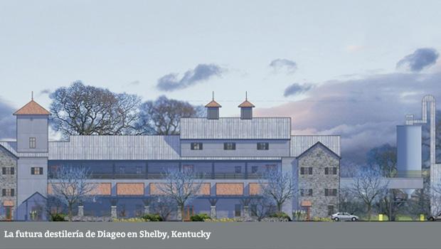 Diageo invertirá 84M€ en una nueva destilería de bourbon