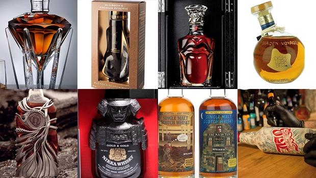 Las 10 botellas de whisky más curiosas