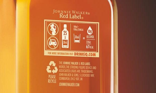 etiqueta de johnnie walker
