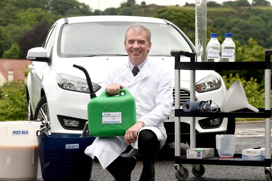 El coche con biocombustible de whisky funciona