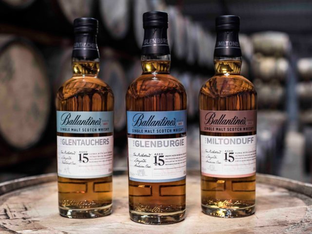 La primera serie de Single Malt de Ballantine's