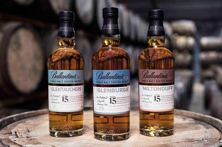La primera serie de Single Malt de Ballantine's